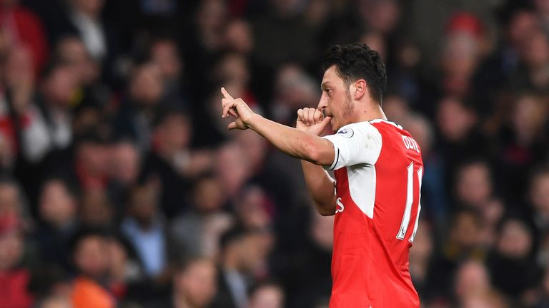 Ozil has only one year left on his Arsenal contract and his future is unclear