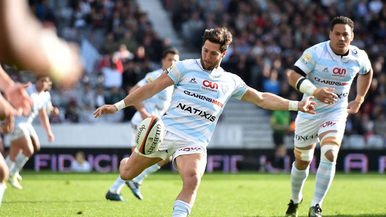 Racing's captain Maxime Machenaud has consistently proved a danger man