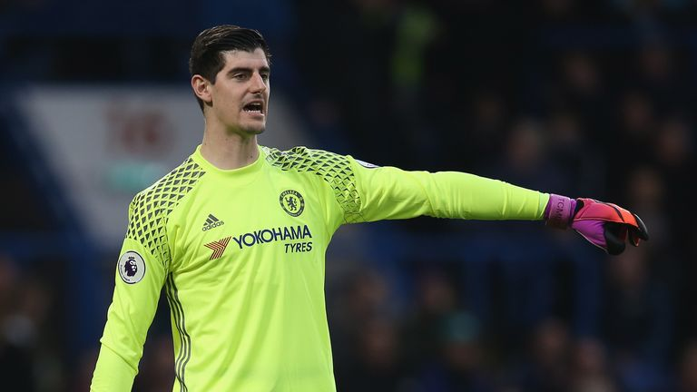 Thibaut Courtois missed loss at Manchester United due to an ankle injury