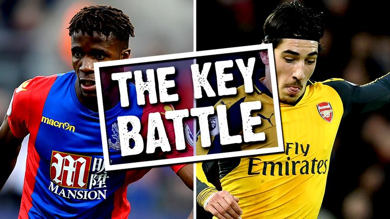 Wilfried Zaha's battle with Hector Bellerin could be crucial on Monday