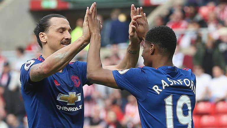 Marcus Rashford featured heavily for United following Zlatan Ibrahimovic's injury