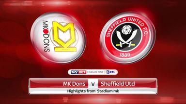 MK Dons 0-3 Sheffield Utd