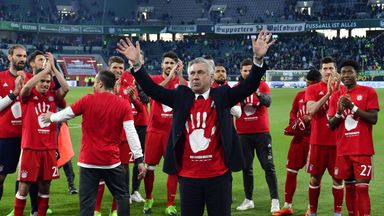 Carlo Ancelotti's Bayern Munich secured their fifth consecutive Bundesliga title