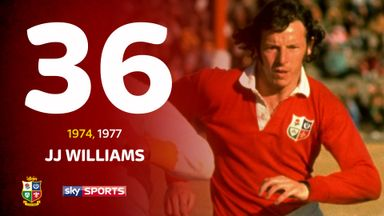 JJ Williams was part of the Lions squad that went unbeaten in South Africa in 1974