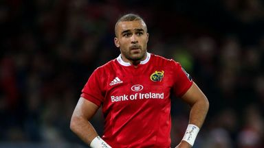 Simon Zebo will leave Munster at the end of the season