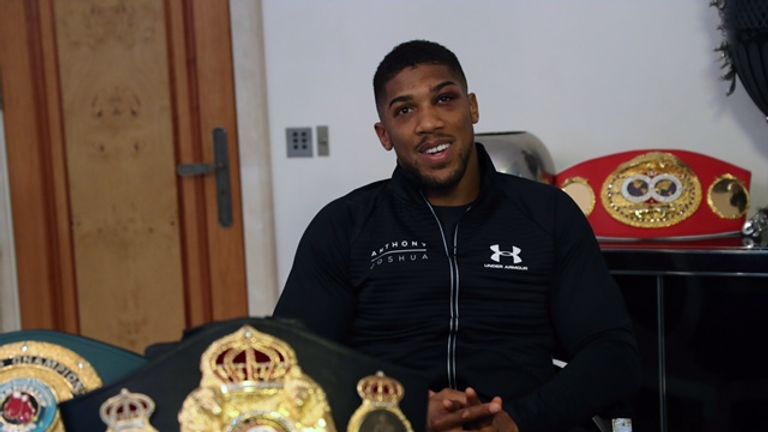WORLD CHAMPION ANTHONY JOSHUA.PIC;LAWRENCE LUSTIG.IBF WORLD ,WBA,IBO HEAVYWEIGHT CHAMPION ANTHONY JOSHUA RELAXES AFTER HIS VICTORY