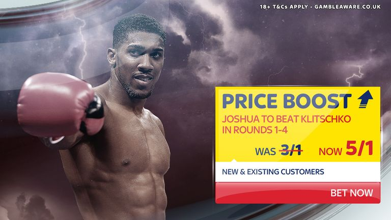 Sky Bet Price Boost for Anthony Joshua v Wladimir Klitschko