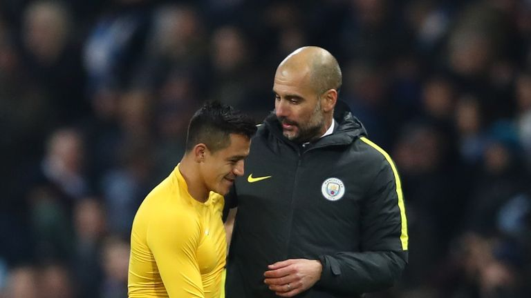 Pep Guardiola expects a number of clubs will be monitoring Alexis Sanchez's contract situation at Arsenal