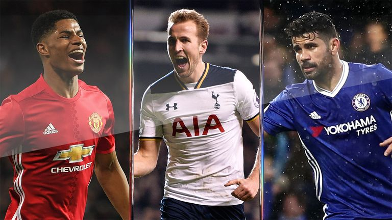 Marcus Rashford's Man Utd, Harry Kane's Tottenham and Diego Costa's Chelsea are in action on Sunday