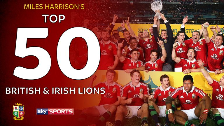 Miles Harrison's top 50 British and Irish Lions