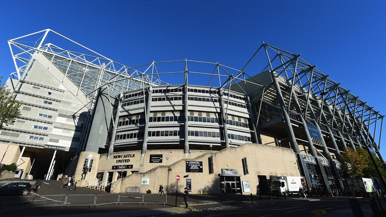 NEWCASTLE UPON TYNE, ENGLAND - NOVEMBER 01:  A view outside the stadium before the Barclays Premier League match between Newcastle United and Liverpool at