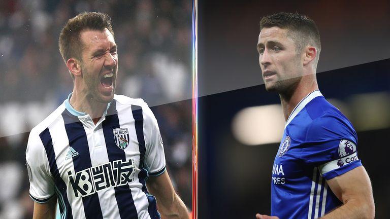 Gareth McAuley and Gary Cahill are the top-scoring centre-backs this season