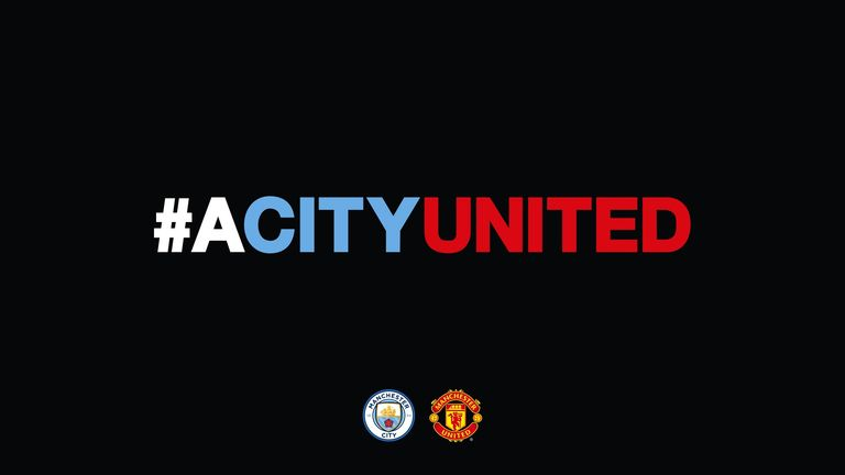 Both clubs adopted this logo as they combined their efforts to support victims of the Manchester attack