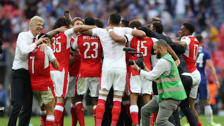 Underdogs Arsenal sprang a surprise to beat Chelsea in the FA Cup final in May