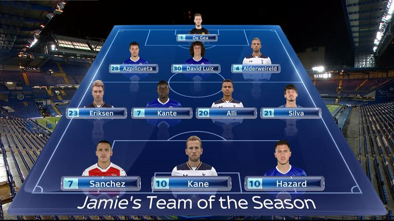 Jamie Carragher selected a 3-4-3 system
