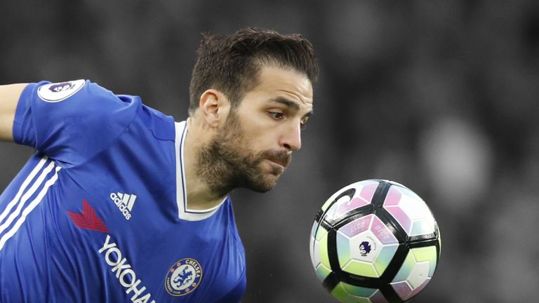 Jamie Redknapp caught up with Cesc Fabregas in pre-season