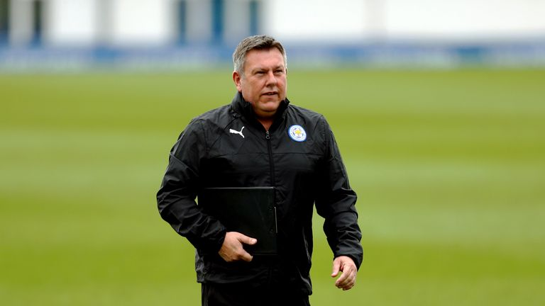 Leicester City manager Craig Shakespeare at training