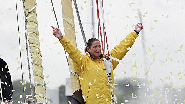 Caffari is the only woman to have sailed solo non-stop around the world three times