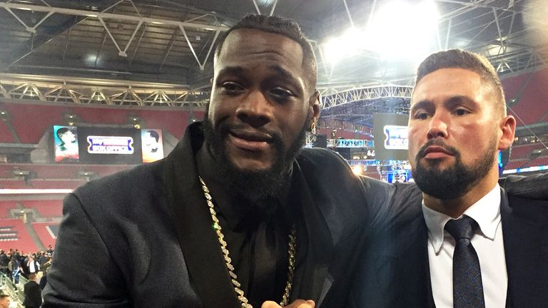 Deontay Wilder and Tony Bellew were part of the team at Wembley Stadium last year