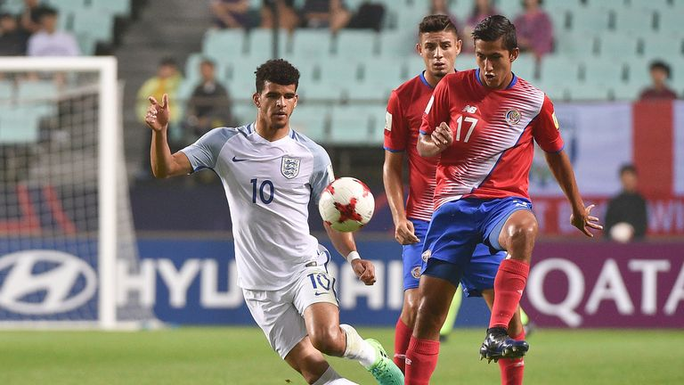 Dominic Solanke could make his senior England debut against Brazil on Tuesday