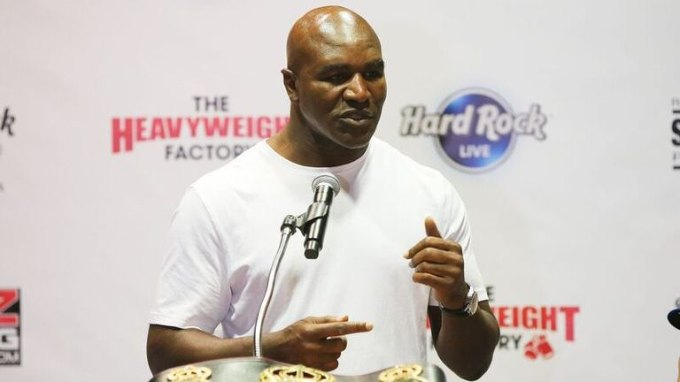 Evander Holyfield previously held a version of the WBA belt
