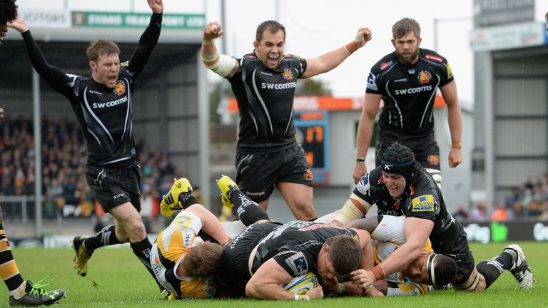Exeter prevailed over Wasps 34-23 this time last year at Sandy Park