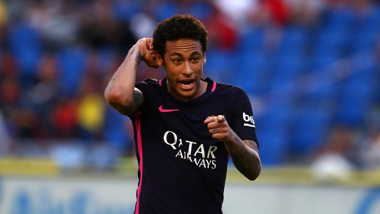 Neymar scored a hat-trick for Barcelona in their last La Liga match