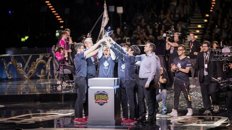 G2 Esports celebrate victory in Europe