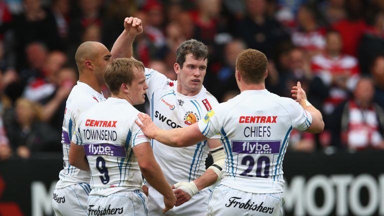 Exeter Chiefs face Saracens at Sandy Park in their Premiership semi-final