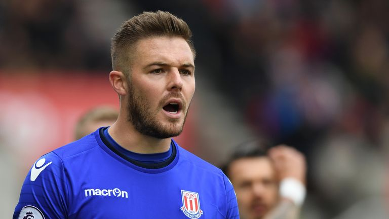 Jack Butland says he should not be discriminated for playing for Stoke, as he looks to become England's No 1