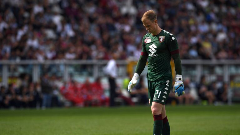 Hart spent last season on loan at Italian club Torino