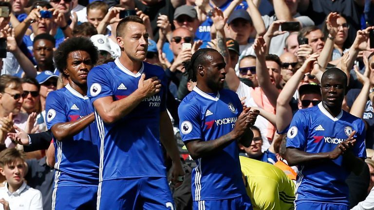 John Terry was substituted off in the 26th minute of Chelsea's win over Sunderland - a pre-planned move as part of the club's tributes to him