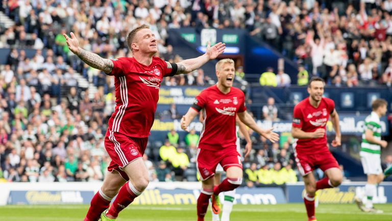 Hayes leaves Aberdeen for Celtic after scoring against his new club in the Scottish Cup final