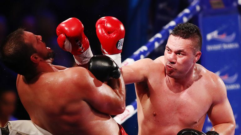 Joseph Parker takes the initiative during the first defence of his world heavyweight title