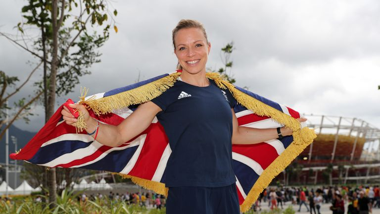 Kate Richardson-Walsh was the Team GB flag bearer for the closing ceremony at the Rio Olympics, where she won gold as part of the women's hockey team