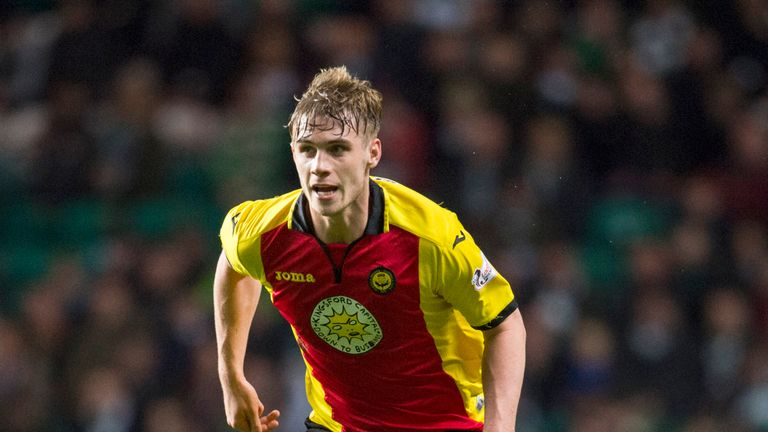 Partick defender Liam Lindsay is the only player not from Celtic or Aberdeen to be seelcted