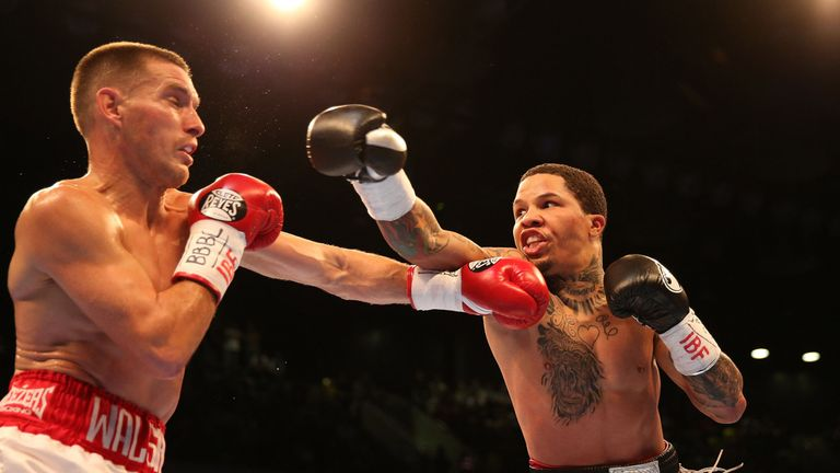 Gervonta Davis (R) will defend the IBF super-featherweight title he previously defended against Liam Walsh