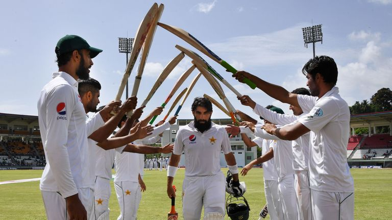 Sarfraz is succeeding Misbah-ul-Haq (centre) as Test captain