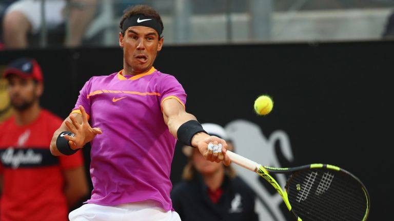 Rafael Nadal was outperformed by Dominic Thiem in Rome ahead of the French Open later this month