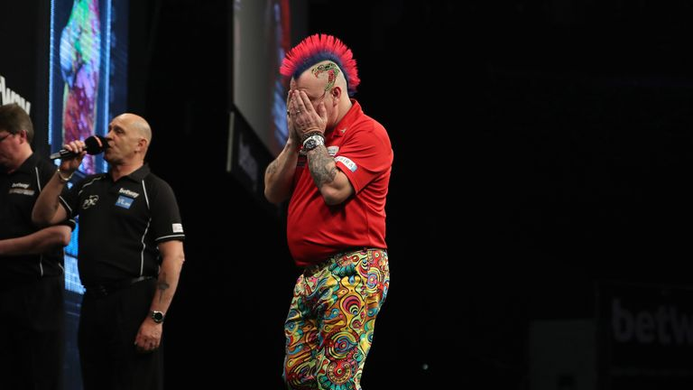 Peter Wright was left to reflect on six missed darts for the Premier League title