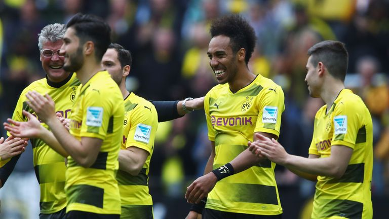 Pierre Emerick-Aubameyang finishes as the Bundesliga's top scorer