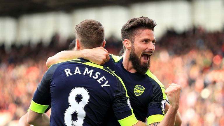 Olivier Giroud hints at Arsenal stay despite imminent Alexandre Lacazette transfer
