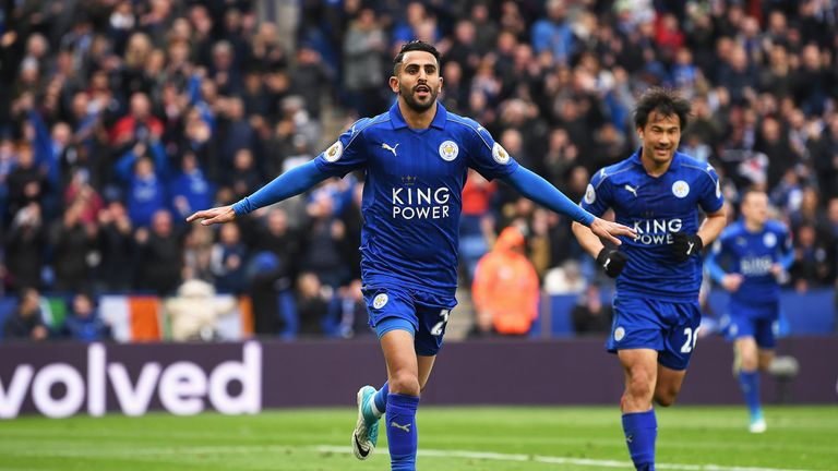 Riyad Mahrez handed in a transfer request last May