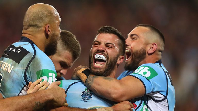 New South Wales full-back James Tedesco (centre) is included in Italy's squad