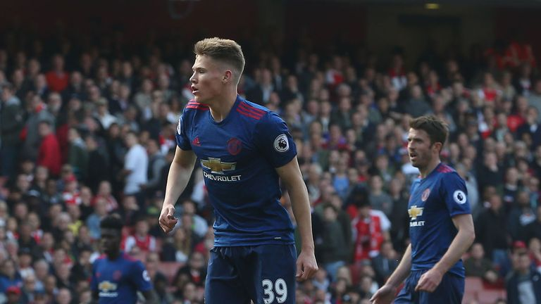 Scott McTominay is among the youngsters set to play at Old Trafford