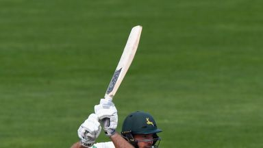 Michael Lumb and Cheteshwar Pujara shared a stand of 185 for Notts