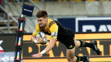 Jordie Barrett was in fine form for the Hurricanes