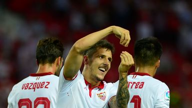 Sevilla's Montenegrin forward Stevan Jovetic was on target against Osasuna