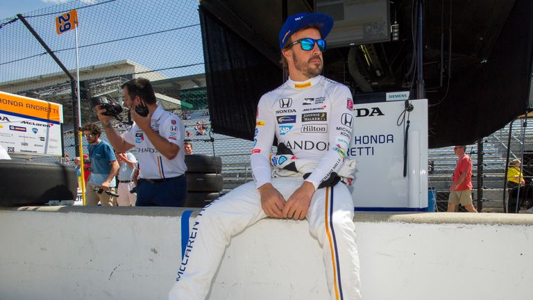 www.sutton-images.com..Fernando Alonso (ESP) McLaren/Andretti Autosport at Indianapolis 500 Practice, Indianapolis, USA, 15-16 May 2017.
