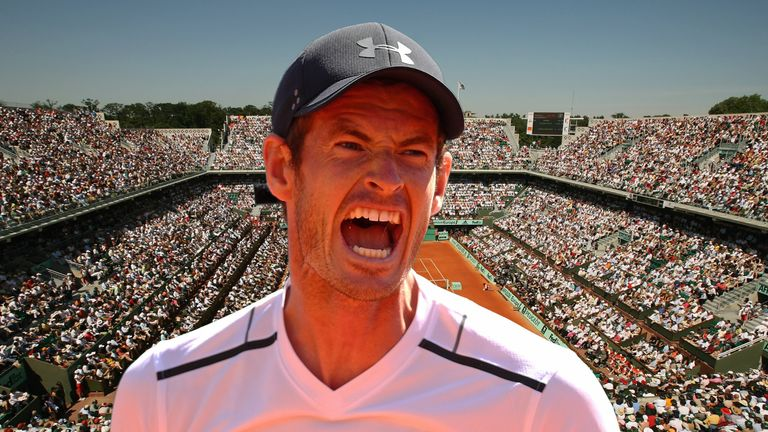 Andy Murray of Great Britain ahead of French Open 2017